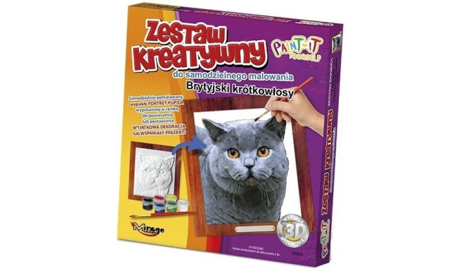 CATS – 3D painting – British Shorthair
