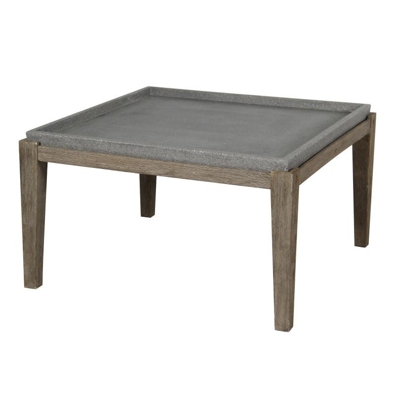 Abilaud SANDSTONE 83,5x83,5xH45,5cm, lauaplaat: komposiitkivi, akaatsia puidust jalad