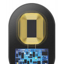 Baseus WXTE-C01 Qi / Wireless / Micro USB Adapter For Any Phone Black