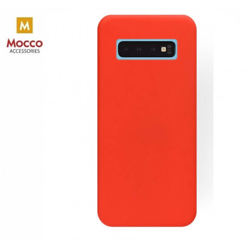Mocco case Soft Magnet Silicone Samsung G973 Galaxy S10, red