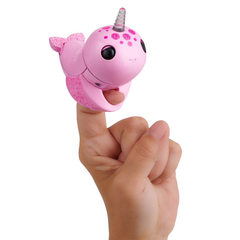 FINGERLINGS electronic toy narwhal Rachel, pink, 3697