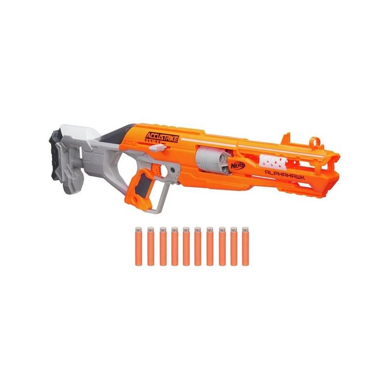 NERF gun with bullets N-STRIKE ELITE ACCUSTRIKE ALPHAHAWK, B7784EU4