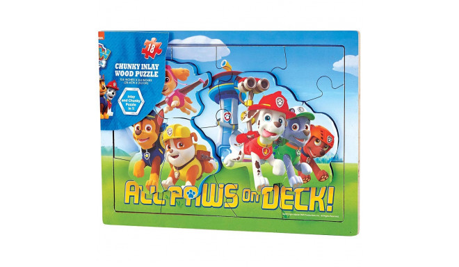 CARDINAL GAMES wood puzzle 18d. Paw Patrol, 6033069