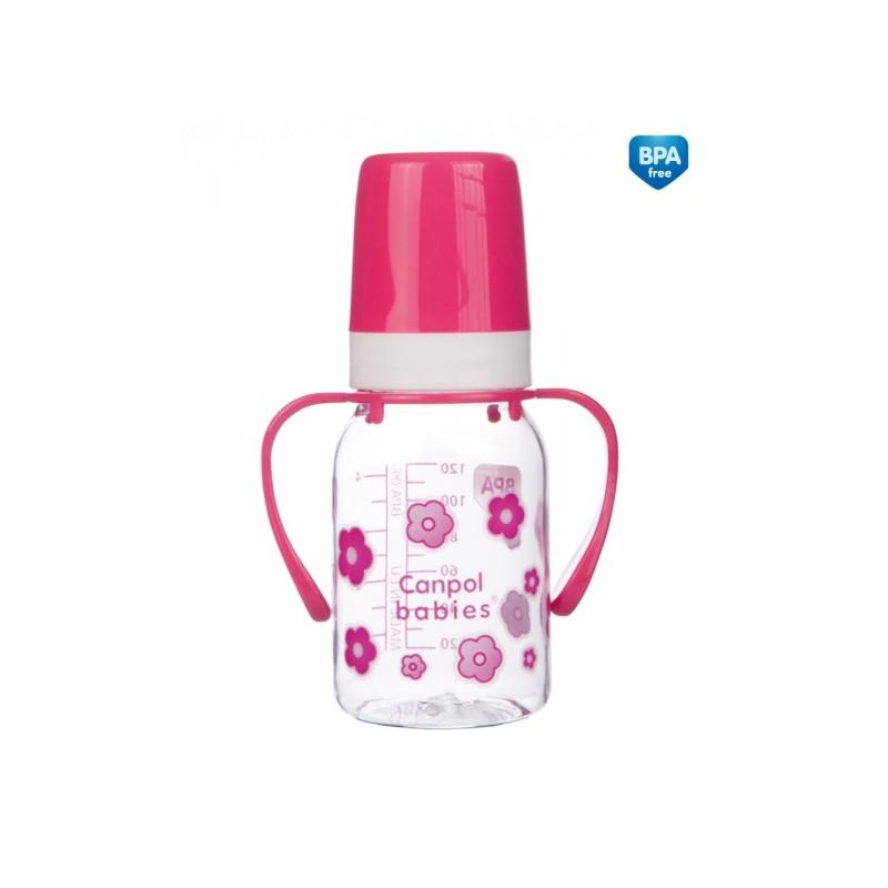 CANPOL BABIES feeding bottle with handles, 120ml, 11/821