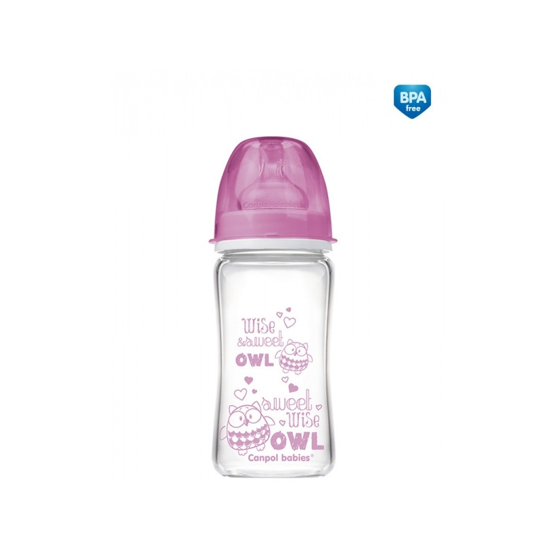 CANPOL BABIES laia kaelaga lutipudel Anti-Colic EasyStart glass 240ml 79/002_pin