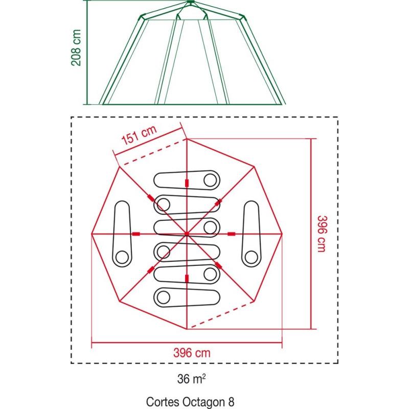 Coleman CORTES Octagon 8(65-2000019550)