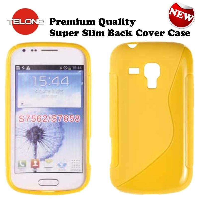 Telone case Samsung Galaxy S Duos/Trend/Trend Plus, yellow