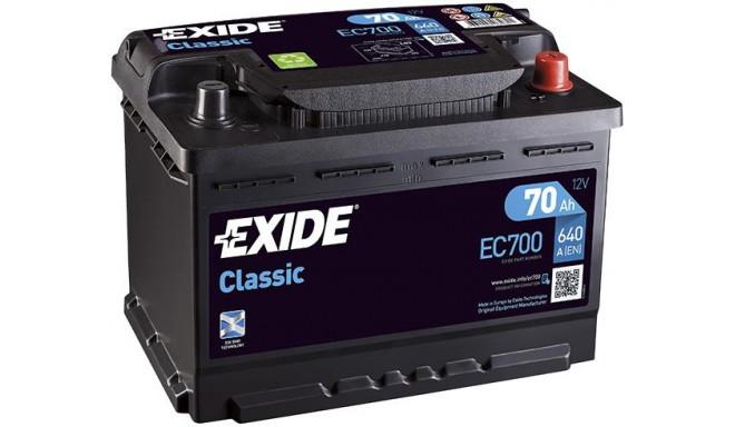 EXIDE Aku Classic 70Ah640A 278x175x190 -+