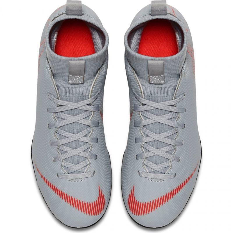 competitive price 06fb4 8ef94 Kids grass football shoes Nike Mercurial Superfly 6 Club MG JR AH7339 060  biały