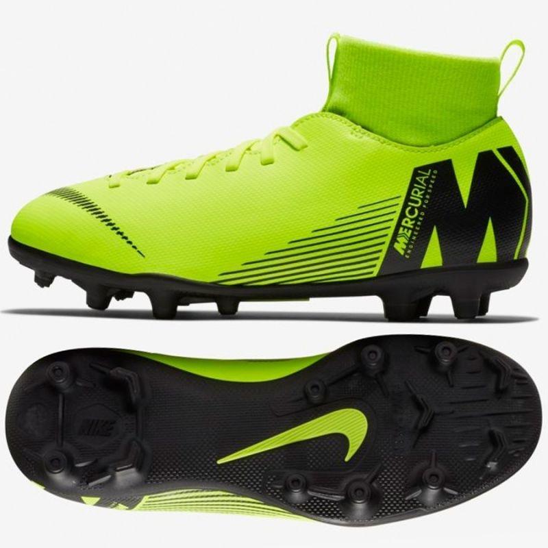 buy popular 834e0 6cc7f Kids grass football shoes Nike Mercurial Superfly 6 Club MG Jr AH7339-701
