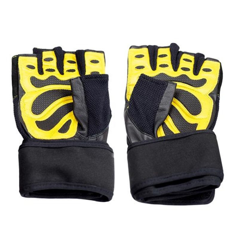 Adults training gloves black/yellow HMS M