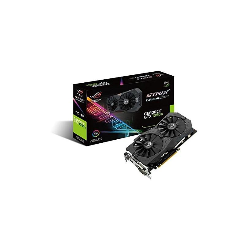 Asus graphics card GeForce GTX 1050 Ti Phoenix - 4GB - HDMI DP DVI