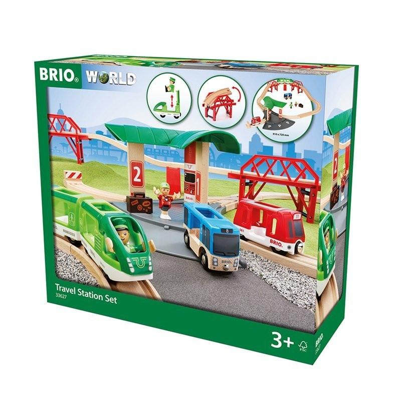 BRIO Reisezug-Set mit Busbahnhof - 33627