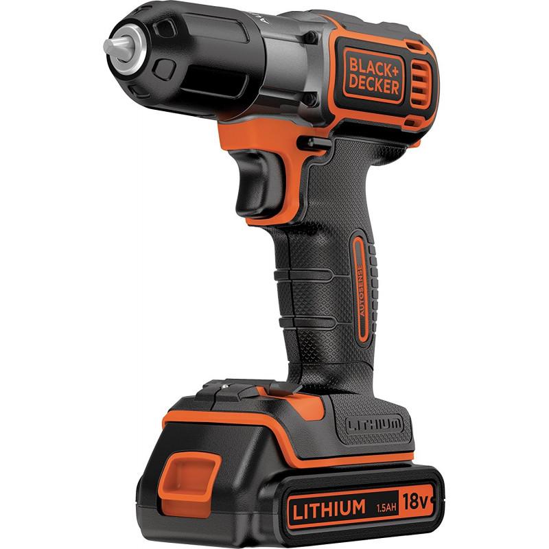 Black&Decker ASD18K auto select cordless screw driller + case + rechargeable battery 1.5Ah