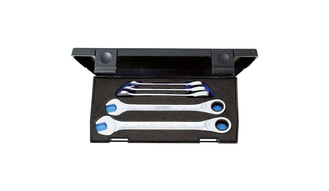 Gedore 7 R-005 foot ring ratchet spanner set - 5-pieces - 2297434