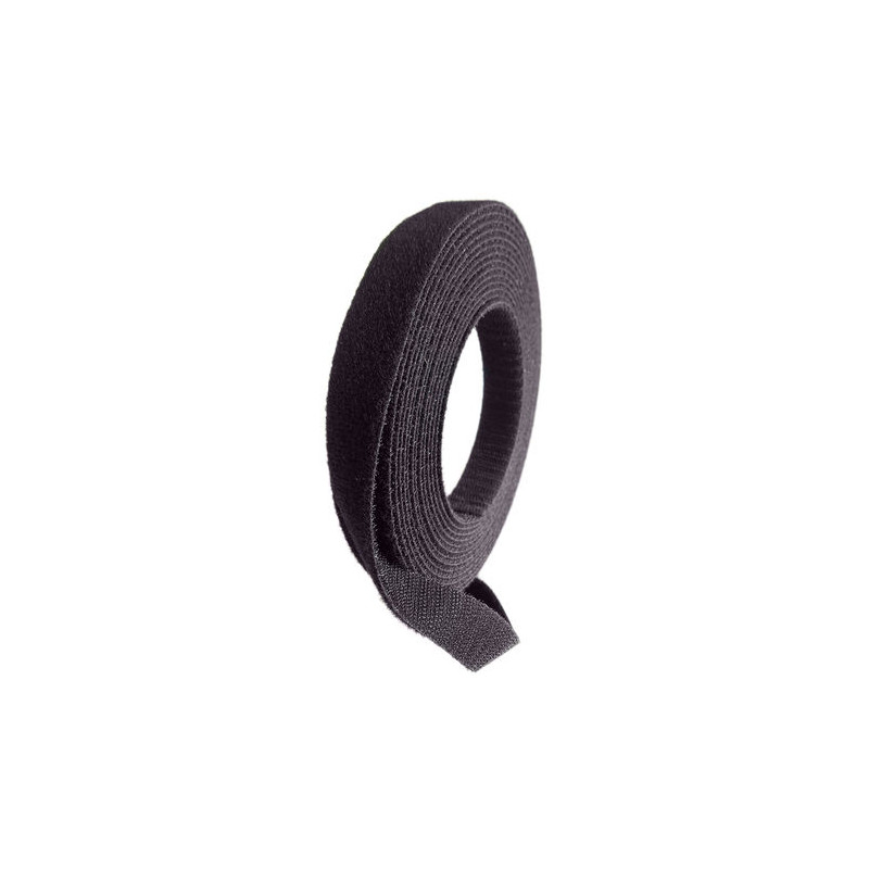 Black Hook & Loop Strip, 20mm x 5m