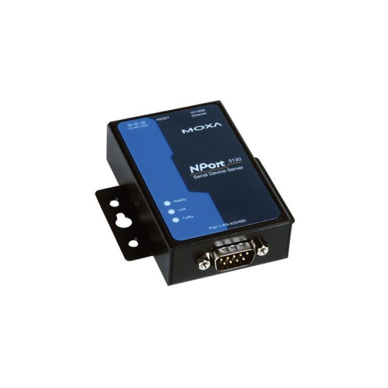 1-port RS-422/485 device server, 0 to 55°C, EU PSU