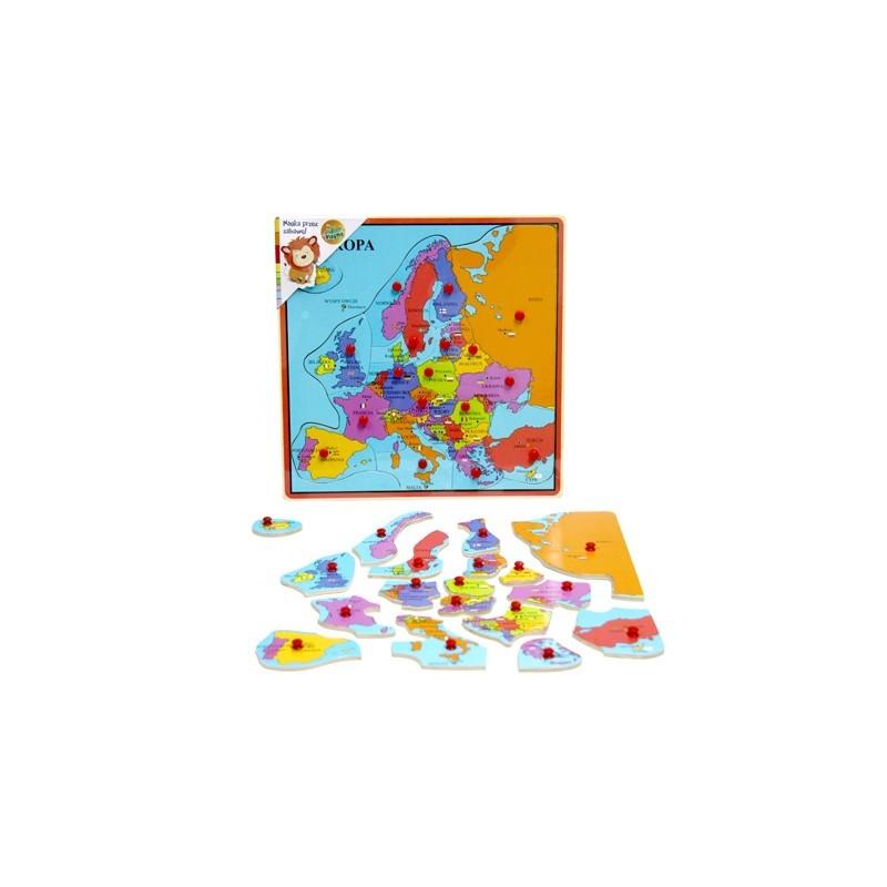 Brimarex puidust pusle Euroopa kaart