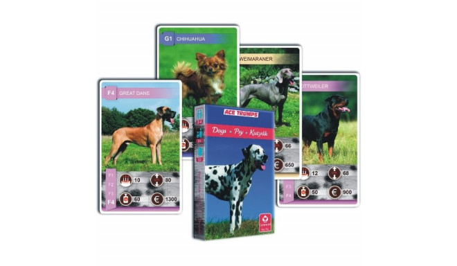 Cartamundi playing cards Game Quartet Dogs