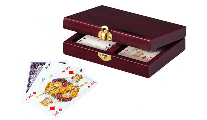 Cards Lux in wooden casket