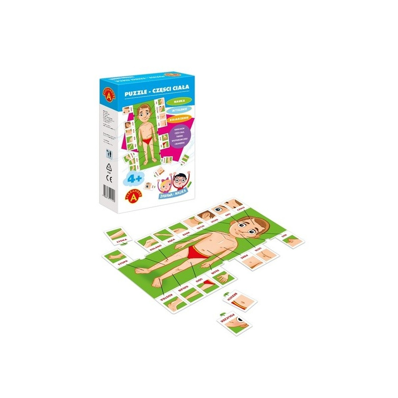 ALEXANDER Puzzle Part of body fun and learning