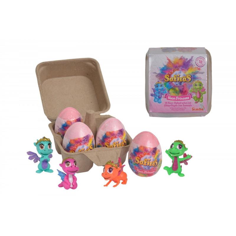 A set of Safiras V figurines, Baby Princess Neon