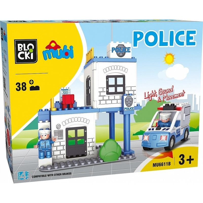Blocks Mubi 38 pcs Police