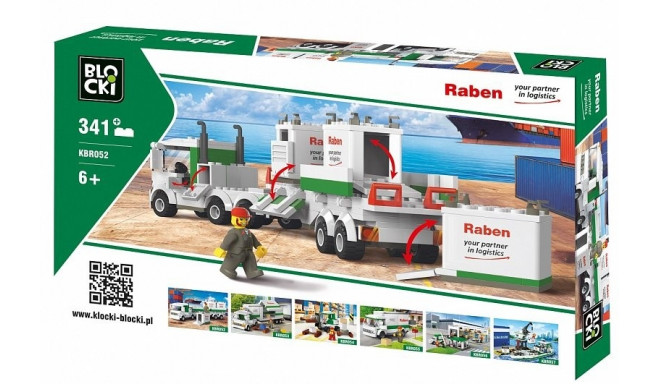 Blocks RABEN 343 elements Container truck