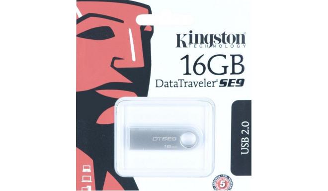 Kingston Technology DataTraveler SE9 16GB USB flash drive USB Type-A 2.0 Silver
