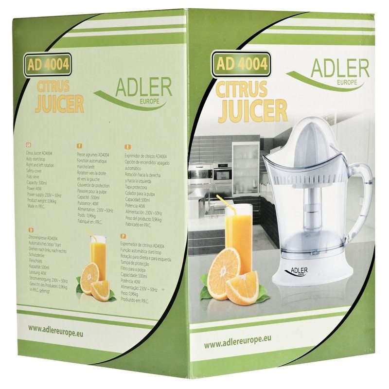 Juicer for citrus fruit Adler AD 4004 (40W; 0,5l; transparent color)
