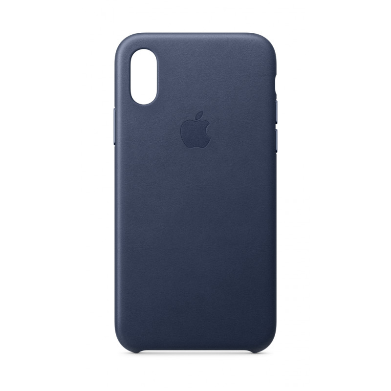 huge discount 1a063 46433 iPhone XS Leather Case - Midnight Blue