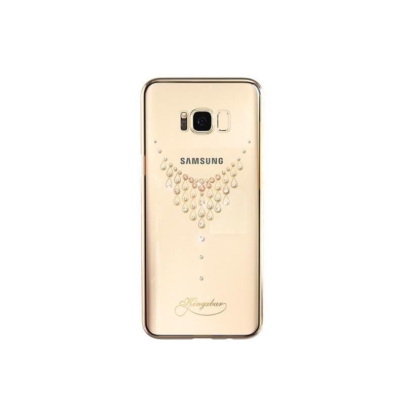 Kingxbar case Starry Sky Dew Swarovski Crystals Samsung G955 S8 Plus, gold