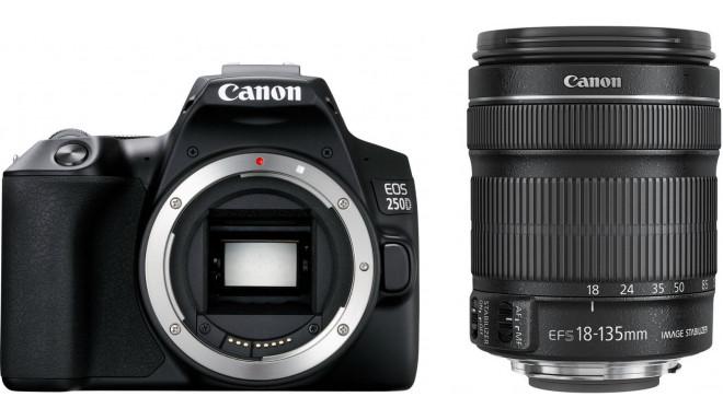 Canon EOS 250D + 18-135mm Kit, melns