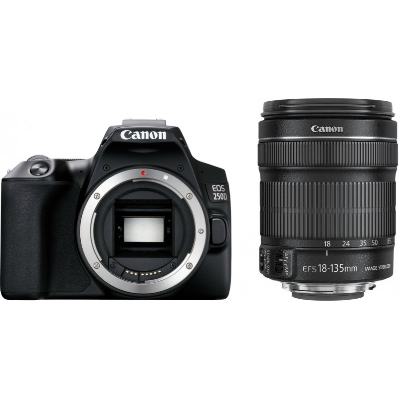 Canon EOS 250D + 18-135mm Kit, must