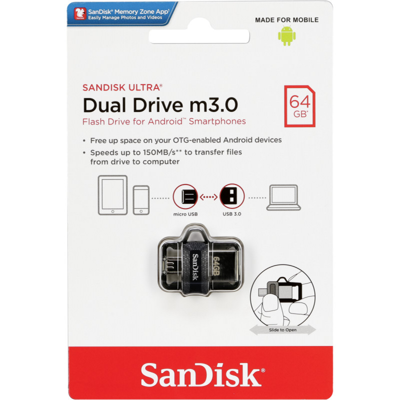 SanDisk Ultra Dual Drive 64GB m3.0 grey&silver ...