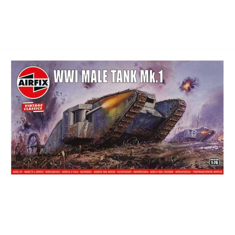 Plastic model WWI Male Tank