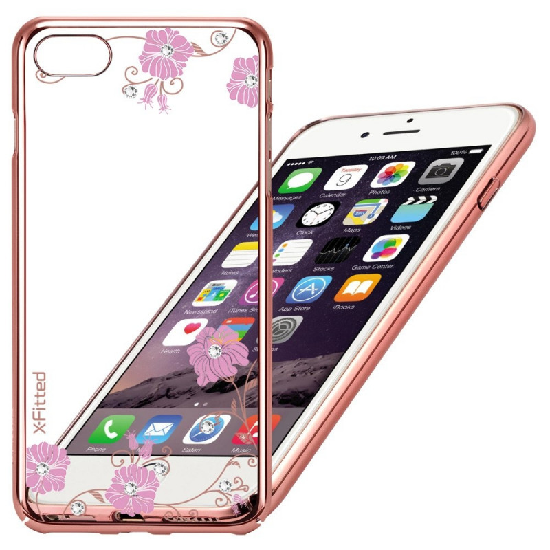 promo code 066fe 4c2b5 X-Fitted case Swarovski Apple iPhone 6/6S Graceland, rose gold