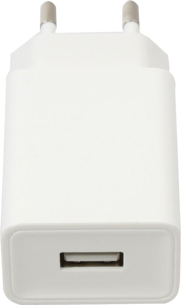 Platinet laadija USB 2A, valge (44753)