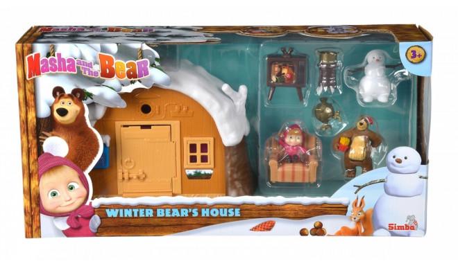 A set of miniatures Masha and the Bear - Winter Bear House