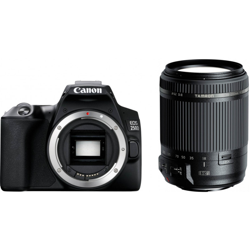 Canon EOS 250D + Tamron 18-200mm VC, must