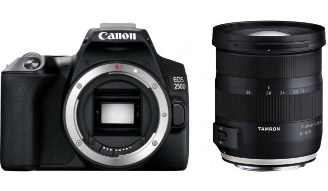 Canon EOS 250D + Tamron 17-35mm OSD, melns