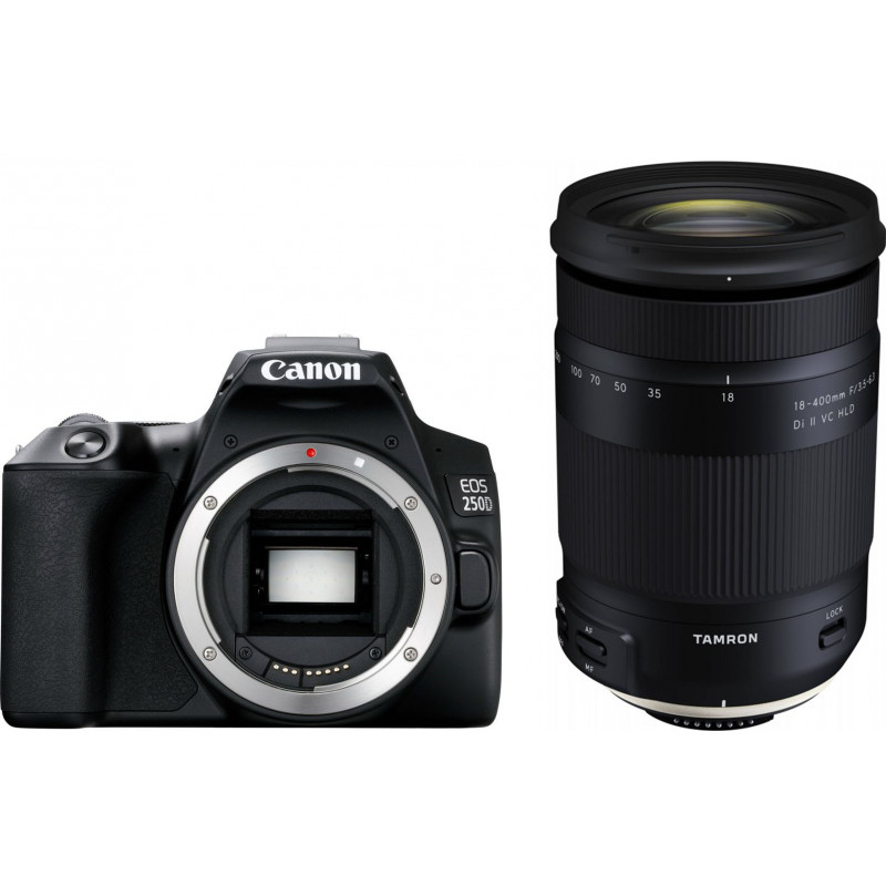 Canon EOS 250D + Tamron 18-400mm, must