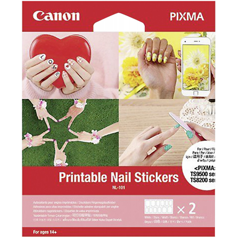 image regarding Printable Nails referred to as Canon printable nail stickers NL-101 24computers