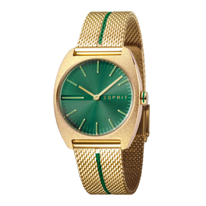 e351ed68cec Esprit ES1L035M0075 Spectrum Green Gold Mesh - Ladies watches ...