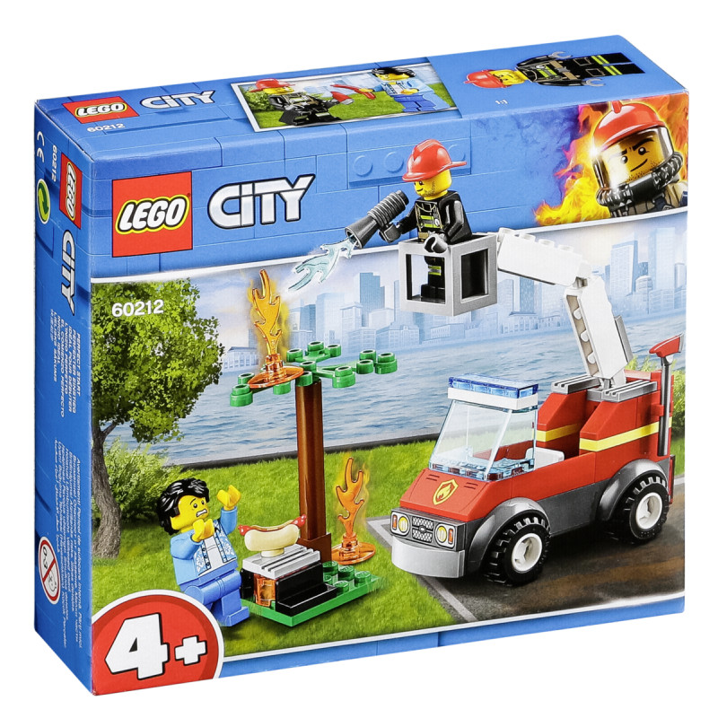 LEGO 60212 City Fire Barbecue Burn Out Truck Toy 2 Minifigures and Accessori...