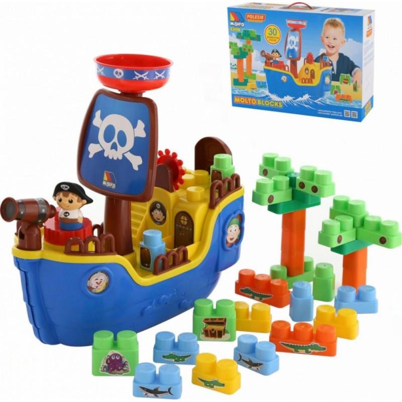 Blocks Set Pirate ship with blocks 30 pcs