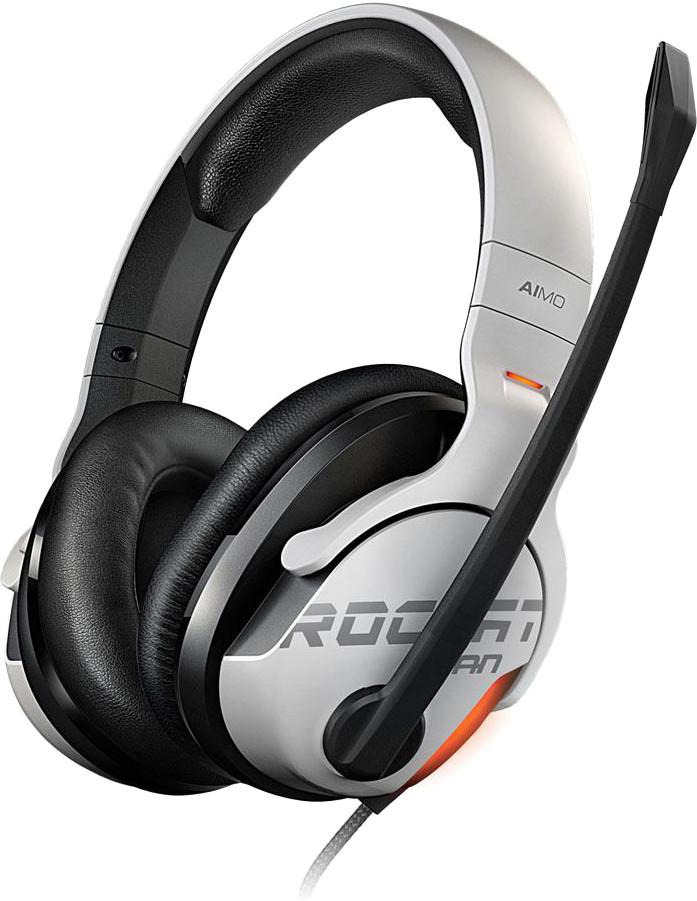 Roccat kõrvaklapid + mikrofon Khan Aimo, valge (..