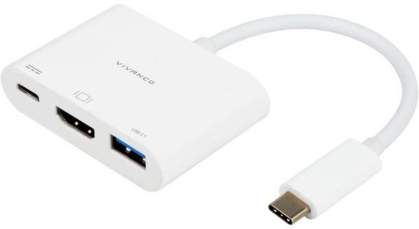 Vivanco adapter USB-C - HDMI 3in1 (45385)