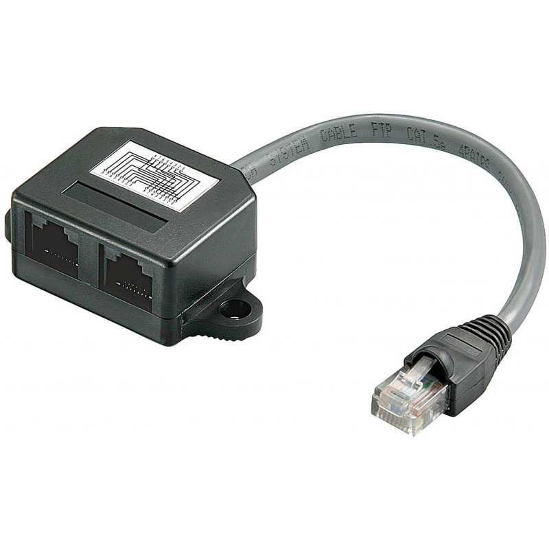 Goobay UTP 10/100 Y-adapter 1:1