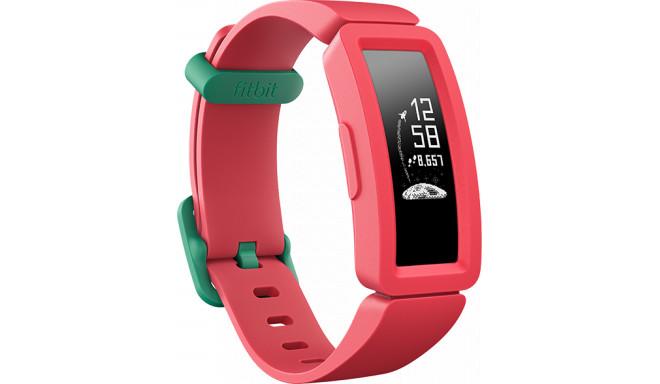 Fitbit aktivitātes trekeris Ace 2, rozā/zaļš